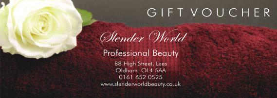 slenderworld beauty salon gift vouchers